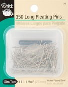Size 17 350/Pkg - Long Pleating Pins