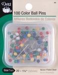 Size 20 100/Pkg - Color Ball Pins