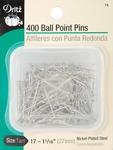 Size 17 400/Pkg - Ball Point Pins