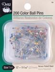 Size 17 200/Pkg - Color Ball Pins