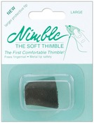Large - Leather Nimble Thimble W/Metal Tip