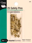 Sizes 00 & 0 25/Pkg - Safety Pins