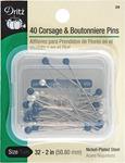 Size 32 40/Pkg - Corsage & Boutonniere Pins