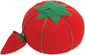 "2.5"" - Tomato Pincushion W/Strawberry Emery"