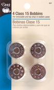 4/Pkg - Metal Class 15 Bobbins