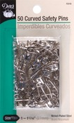 Size 1 50/Pkg - Curved Safety Pins