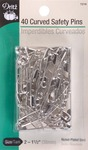 Curved Safety Pins - Size 2 40/Pkg