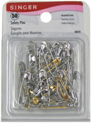 Sizes 00 To 3 50/Pkg - Safety Pins