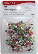 Size 16 200/Pkg - Ball Head Straight Pins