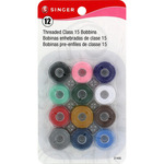 Transparent Plastic Class 15 Bobbins - Threaded-12/Pkg