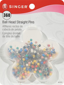 Size 17 360/Pkg - Ball Head Quilting Pins In Flower Case