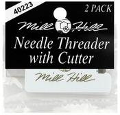 2/Pkg - Needle Threader & Cutter