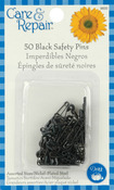 Black Safety Pins - Assorted 50/Pkg