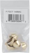 Gold - 14mm Purse Feet 4/Pkg