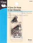 "Nickel - Sew-On Hooks & Eyes 5/8"" 4/Pkg"
