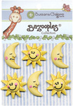 The Sun & Moon BaZooples Buttons