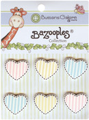 Heart Medley BaZooples Buttons