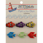 Exotic Fish - Fun In The Sun Buttons