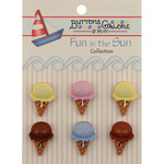 Ice Cream Cones - Fun In The Sun Buttons