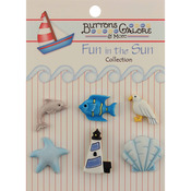 By The Sea - Fun In The Sun Buttons