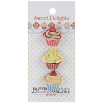 Cupcakes - Sweet Delights Buttons