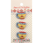 Coffee Cups - Sweet Delights Buttons