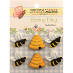 Busy Bees - Spring Fling Buttons