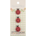 Ladybugs - Spring Fling Buttons