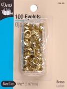 """Brass - Eyelets 5/32"""" 100/Pkg"""