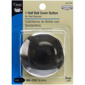 """Size 100 2-1/2"""" 1 Pkg - Half-Ball Cover Buttons"""