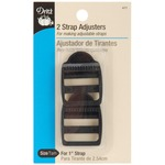 "Black - Strap Adjusters For 1"" Strap 2/Pkg"