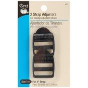 """Black - Strap Adjusters For 1"""" Strap 2/Pkg"""