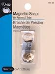 "Gilt - Round Magnetic Snap 1/2"" 1/Pkg"