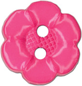 "Pink Flower 2-Hole 5/8"" 3/Pkg - Slimline Buttons Series Funtastics"