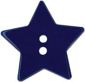 "Royal Blue Star 2-Hole 1-1/8"" 2/Pkg - Slimline Buttons Series Funtastics"