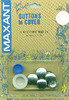 Size 24 5/8 inches  5/Pkg - Cover Button Kit MAXANT-Customize your buttons to match your garments or home decor projects! Easy to use and tool is included. Sizes range from 1/2 to 1-7/8. Smaller sizes are used for clothing, larger sizes are used for pillows, craft, and ornaments.