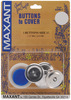 Size 45 1-1/8  3/Pkg - Cover Button Kit MAXANT-Customize your buttons to match your garments or home decor projects! Easy to use and tool is included. Sizes range from 1/2 to 1-7/8. Smaller sizes are used for clothing, larger sizes are used for pillows, craft, and ornaments.