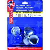 """Size 45 1-1/8"""" 4/Pkg - Cover Button Kit"""