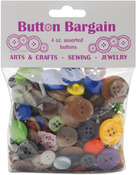 Assorted Colors - Button Bargain 4oz