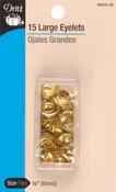 """Brass - Eyelets 1/4"""" 15/Pkg"""