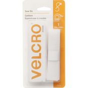 "White - VELCRO(R) Brand Sew-On Tape 5/8""X12"""