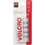 """VELCRO(R) Brand STICKY BACK Coins 5/8"""" 15/Pkg - White"""