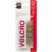 "Beige - VELCRO(R) Brand STICKY BACK Coins 5/8"" 15/Pkg"