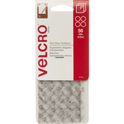 "Clear - VELCRO(R) Brand Thin Fasteners Dots 3/8"" 56/Pkg"