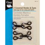 Brown - Covered Hooks & Eyes 2/Pkg