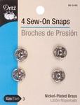 Size 3 4/Pkg - Nickel Sew-On Snaps