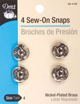 Size 4 4/Pkg - Nickel Sew-On Snaps