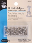 Nickel - Hooks & Eyes Size 3 14/Pkg
