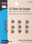Size 3/0 12/Pkg - Nickel Sew-On Snaps