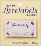 Handmade By - Iron-On Lovelabels 4/Pkg